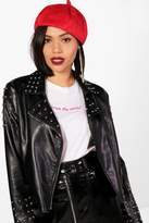 boohoo Georgia Felt Beret red