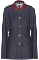 Tomas Maier Leather-trimmed Denim Jacket