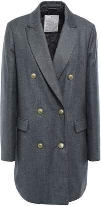 Brunello Cucinelli Double-breasted Metallic Wool-blend Coat