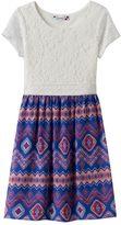 Speechless Girls 7-16 & Plus Size Lace Geometric Dress