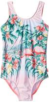 Seafolly Hawaiian Rose Tie Back Tank One-Piece Girl's Swimsuits One Piece