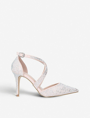 Carvela Kross gemstone-embellished suedette sandals