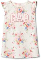 Gap Floral Logo Flutter Dress