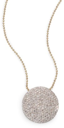 Phillips House Pave Diamond & 14K Yellow Gold Infinity Disc Pendant Necklace
