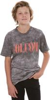 Volcom Boys Weave Dye Tee Black