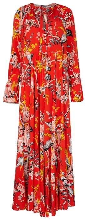 Diane von Furstenberg Bethany Floral-print Silk Maxi Dress