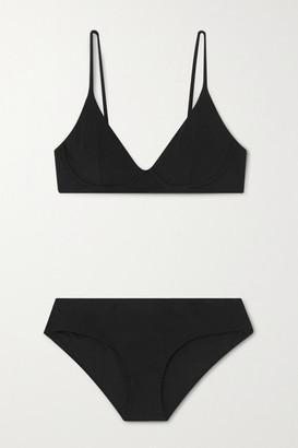 Les Girls Les Boys - Ribbed Underwired Bikini - Black