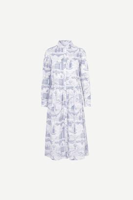 Samsoe & Samsoe Eli Shirt Dress, City of Towers - XS/34 | cotton