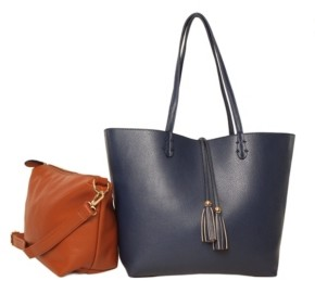 Imoshion Handbags Premium Vegan Leather 2-in-1 Reversible Tote