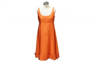 Prada Orange Silk Dresses