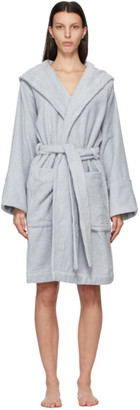 Tekla SSENSE Exclusive Blue Solid Bath Robe
