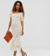 Asos DESIGN Petite tiered double frill hem maxi dress