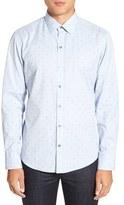 Zachary Prell Men's 'Denny' Regular Fit Jacquard Sport Shirt