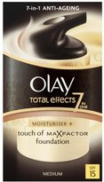 Olay Total Effects Touch of Max Factor Foundation SPF15 Moisturiser 37 ml (Packaging Varies) - Medium