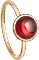 Astley Clarke Garnet mercury 14ct gold ring