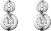 Georg Jensen Aurora 18ct white gold and diamond drop earrings