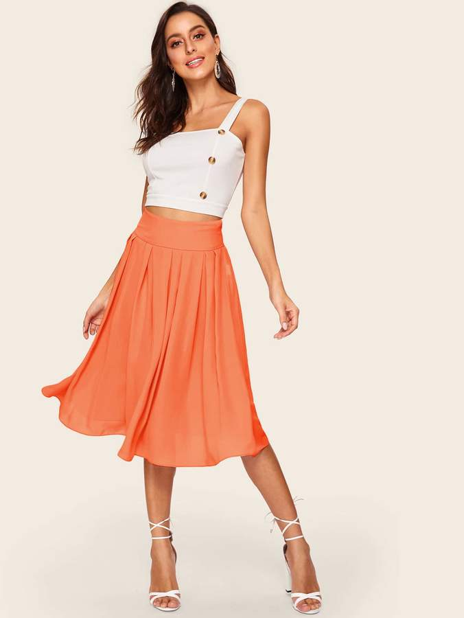 cf4483853 Shein Orange Skirts - ShopStyle