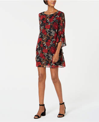 Connected Petite Bell-Sleeve Shift Dress