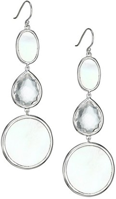 Ippolita Polished Rock Candy Sterling Silver, Mother-Of-Pearl & Clear Quartz Graduated Drop Earrings