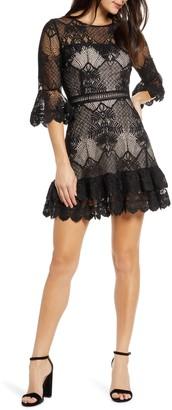 BB Dakota Ruffle Lace Minidress