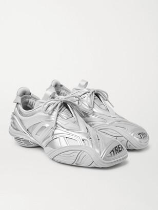 Balenciaga Tyrex Nylon, Mesh, Faux Leather And Rubber Sneakers