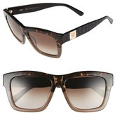 MCM Women's 56Mm Retro Sunglasses - Black/ Striped Aqua
