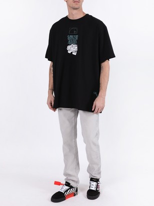 Off-White Dripping Arrows T-shirt Black & White