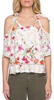 Willow & Clay Women's Cold Shoulder Floral Print Top