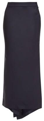 Raey Fishtail Silk-taffeta Maxi Skirt - Navy