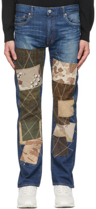 Junya Watanabe Indigo Levis Edition Multi Fabric Patchwork Jeans