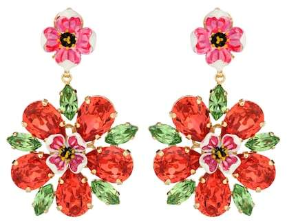 Dolce & Gabbana Crystal clip-on earrings