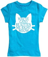 Urban Smalls Turquoise 'You've Gato Be Kitten Me' Fitted Tee - Toddler & Girls