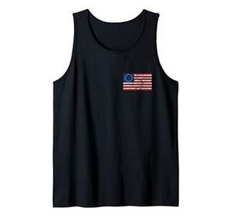 Betsy Ross Flag Pocket American Flag USA Patriot Gift Tank Top