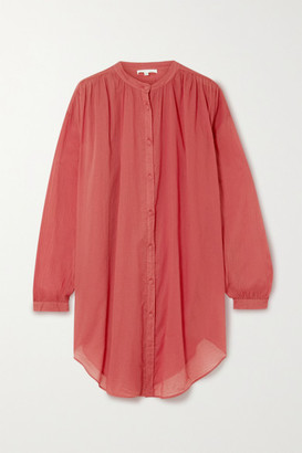 Skin Brea Oversized Cotton-voile Kaftan - Brick
