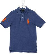 Ralph Lauren embroidered logo polo shirt - kids - Cotton - 14 yrs