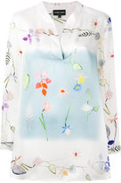 Giorgio Armani floral print blouse
