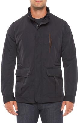 Emporio Armani Men's Field Jacket w/ Leather Chest Pocket