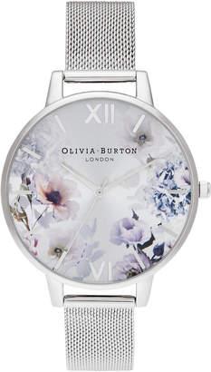 Olivia Burton Women Sunlight Floral Stainless Steel Mesh Bracelet Watch 38mm