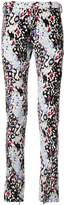 Sulvam abstract print skinny trousers