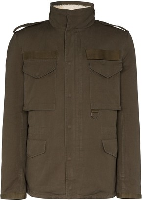 Yves Salomon Merino wool-lined jacket