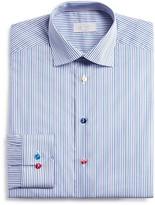 Eton of Sweden Stripe Multi Color Button Regular Fit Dress Shirt
