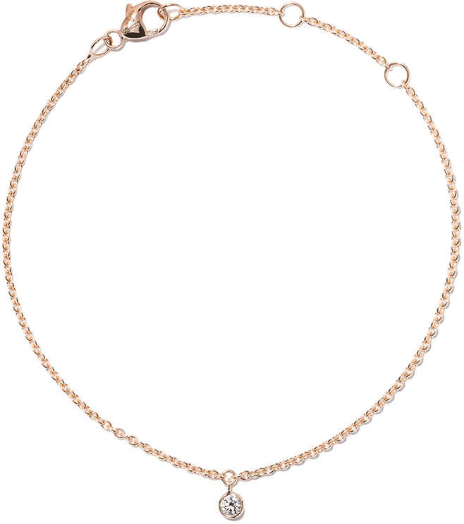 De Beers 18kt rose gold Dewdrop One Diamond bracelet