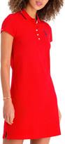 U.S. Polo Assn. Women's Casual Dresses RACING - Racing Red Solid Polo Dress - Women