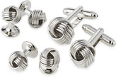 Ike Behar Knot Cuff Links & Shirt Studs Set