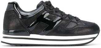 Hogan Platform Sole Lace-Up Sneakers