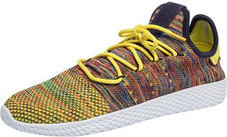 adidas Pharrell Williams x Multicolor Knit Fabric PW Tennis Hu Sneakers Size 46