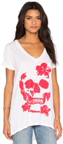Chaser Hibiscus Skull Tee