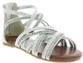 Kenneth Cole Reaction Daisy Shimmer Open Toe Sandal (Little Kid/Big Kid)