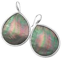 Ippolita Sterling Silver Ondine Black Shell Teardrop Earrings