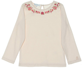 Cream & Pink Floral Pima Cotton Valerie Tee - Infant & Girls